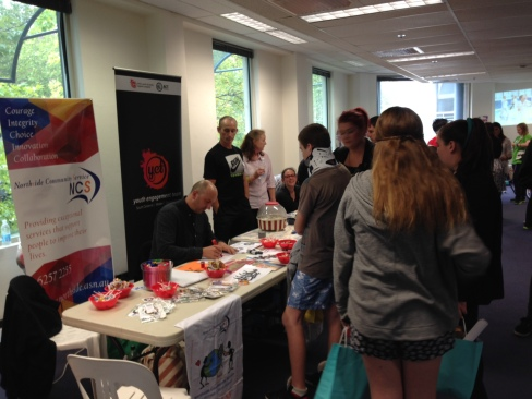 John Vukovic participating in the ACT National Youth Week Expo, 2014